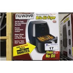 NU WAVE REVOLUTIONARY DIGITAL BRIO AIR FRYER