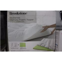 BROOKSTONE BIOSENSE MEMORY FOAM MATTRESS TOPPER FULL SIZE