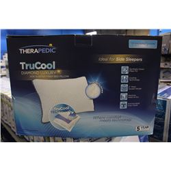 PAIR OF THERAPEDIC TRU COOL DIAMOND DELUXE PILLOWS