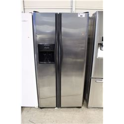 FRIGIDAIRE STAINLESS STEEL SIDE BY SIDE FRIDGE WITH ICE AND WATER