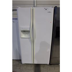 FRIGIDAIRE GALLERY SERIES WHITE SIDE BY SIDE FRIDGE WITH ICE AND WATER