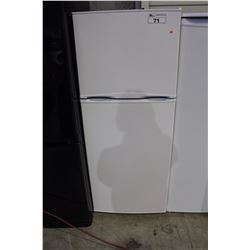 WHITE APARTMENT SIZED 2 DOOR FRIDGE
