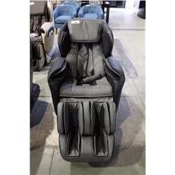 BLACK AND GREY LEATHER TITAN MASSAGE CHAIR RETAILS $4000
