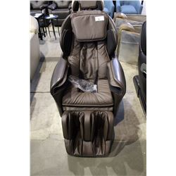 BROWN LEATHER TITAN MASSAGE CHAIR RETAILS $4000
