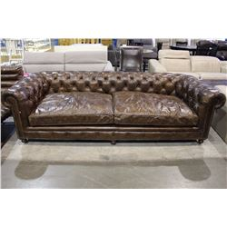 BEAUTIFUL LEATHER BUTTONBACK SOFA