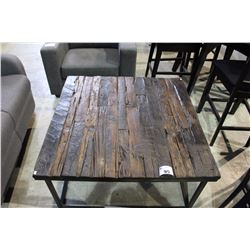 RUSTIC TOP SQUARE COFFEE TABLE