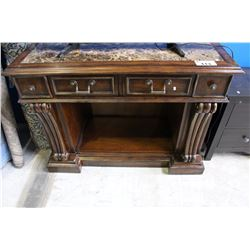 MARBLE TOP BUFFET STAND
