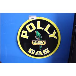 POLLY GAS REPRODUCTION SIGN