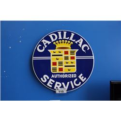 CADILLAC AUTHORIZED SERVICE  REPRODUCTION SIGN