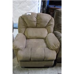 RECLINING UPHOLSTERED CHAIR TAN