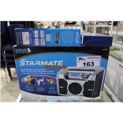 SIRIUS SATELLITE STARMATE REPLAY PORTABLE SATELLITE RADIO BOOMBOX WITH CONTROLLERS AND FM DIRECT