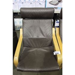 LEATHER PARLOR CHAIR