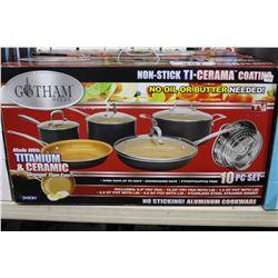GOTHAM STEEL TITANIUM 10 PC POT SET