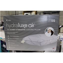 A PAIR OF HYDRALUXE AIR DOWN ALTERNATIVE COOLING PILLOW STANDARD QUEEN SIZE