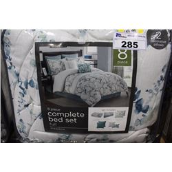 8 PIECE COMPLETE FULL SIZED BED SET