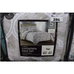 5 PIECE COMPLETE QUEEN SIZED BED SET