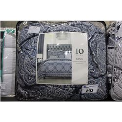 KING 10 PIECE COMFORTER SET