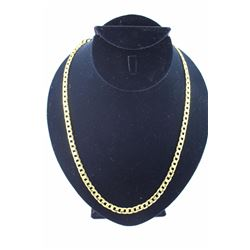 MENS 10KT GOLD CLAD FIGARO LINK NECKLACE