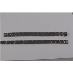 2 X MENS STAINLESS STEEL BRACELETS