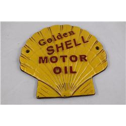 SOLID CAST IRON SHELL MOTOR OIL WALL PLAQUE