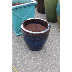 VIETNAMESE GLAZED PLANTER 14.5IN