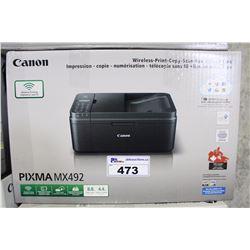 CANON PIXMA MX 492 ALL IN ONE PRINTER