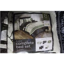 8 PIECE COMPLETE BED SET