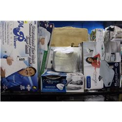 SHELF LOT - 5 NEW PILLOWS IN BOX , BRAND NEW AEROBED IN A BOX