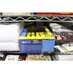 SHELF LOT - KING SIZED DUVET COVER, 20 PIECE CUTLERY SET, MANY MORE LINENS