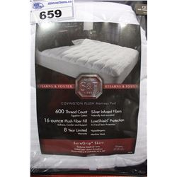 600 THREAD COUNT EGYPTIAN COTTON MATTRESS PAD