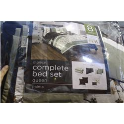 8 PIECE QUEEN BED SET
