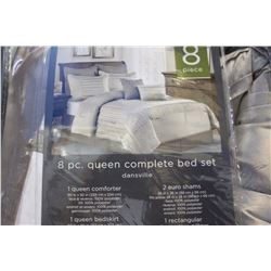 8 PIECE QUEEN COMPLETE BED SET