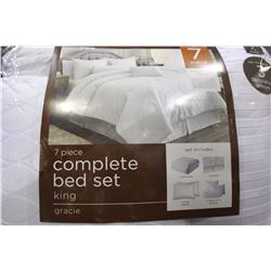 7 PIECE COMPLETE KING SIZED BED SET