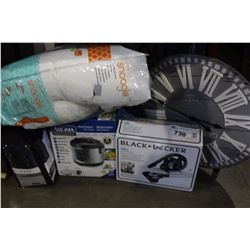 SHELF LOT OF BLACK AND DECKER VACUUM, SNOOGLE AND MORE