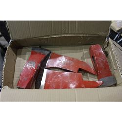 BOX OF AXE HEADS