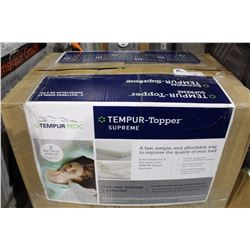TEMPUR TOPPER AND ADJUSTABLE CLOTHING RACK
