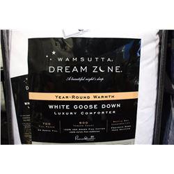 WHITE GOOSEDOWN QUEEN SIZE COMFORTER