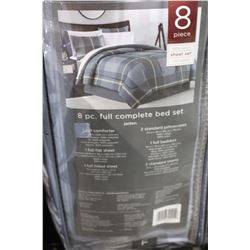 8 PIECE FULL COMPLETE BED SET