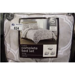 5 PIECE COMPLETE KING BED SET