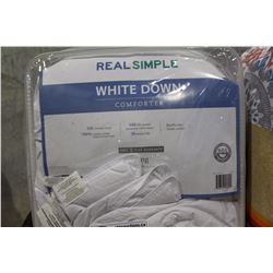 350 THREAD COUNT PREMIUM WHITE DOWN COMFORTER KING SIZE