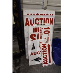 COMMERCIAL SIGNS FOR AUCTION BUSINESS