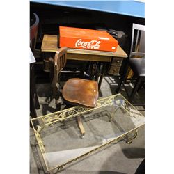 SEWING MACHINE WITH MATCHING CHAIR , COCA COLA MERCHANDISE