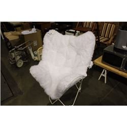 FUNKY FURRY WHITE CHAIR