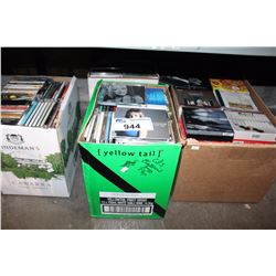 SHELF LOT - 4 CARTONS OF CD'S