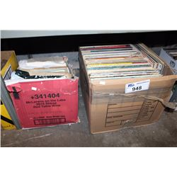 SHELF LOT - TWO BOXES OF RECORDS
