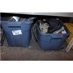 SHELF LOT - 2 TOTES WITH MISC HARDWARE