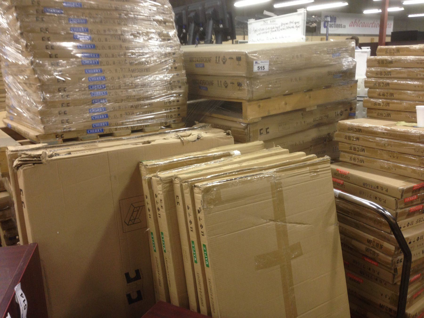 APPROX  10 PALLETS OF BRAND NEW UNBUILT OFFICE