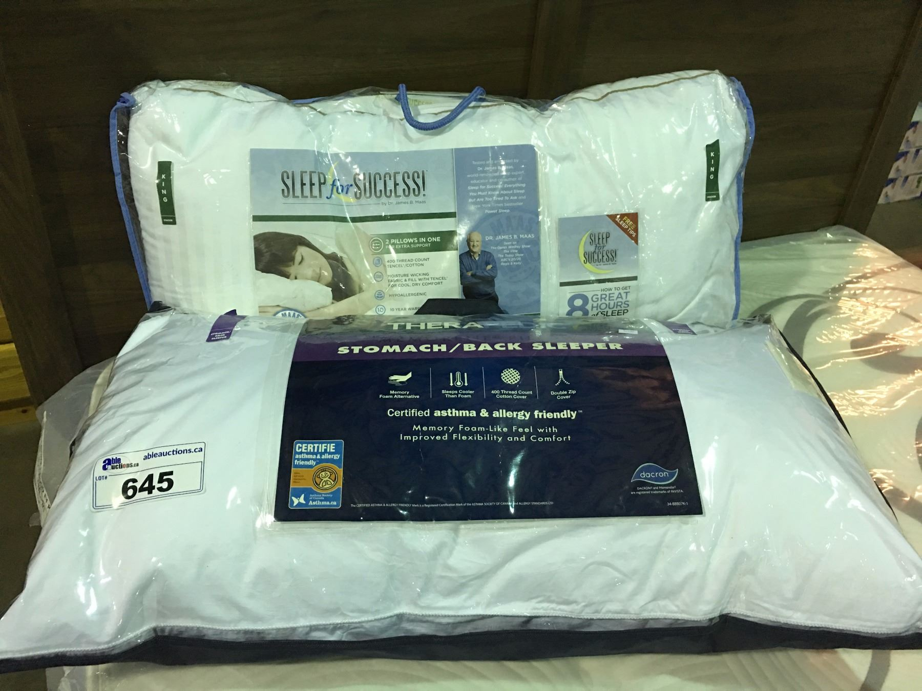 2 King Sized Pillows Therapedic Sleep For Success