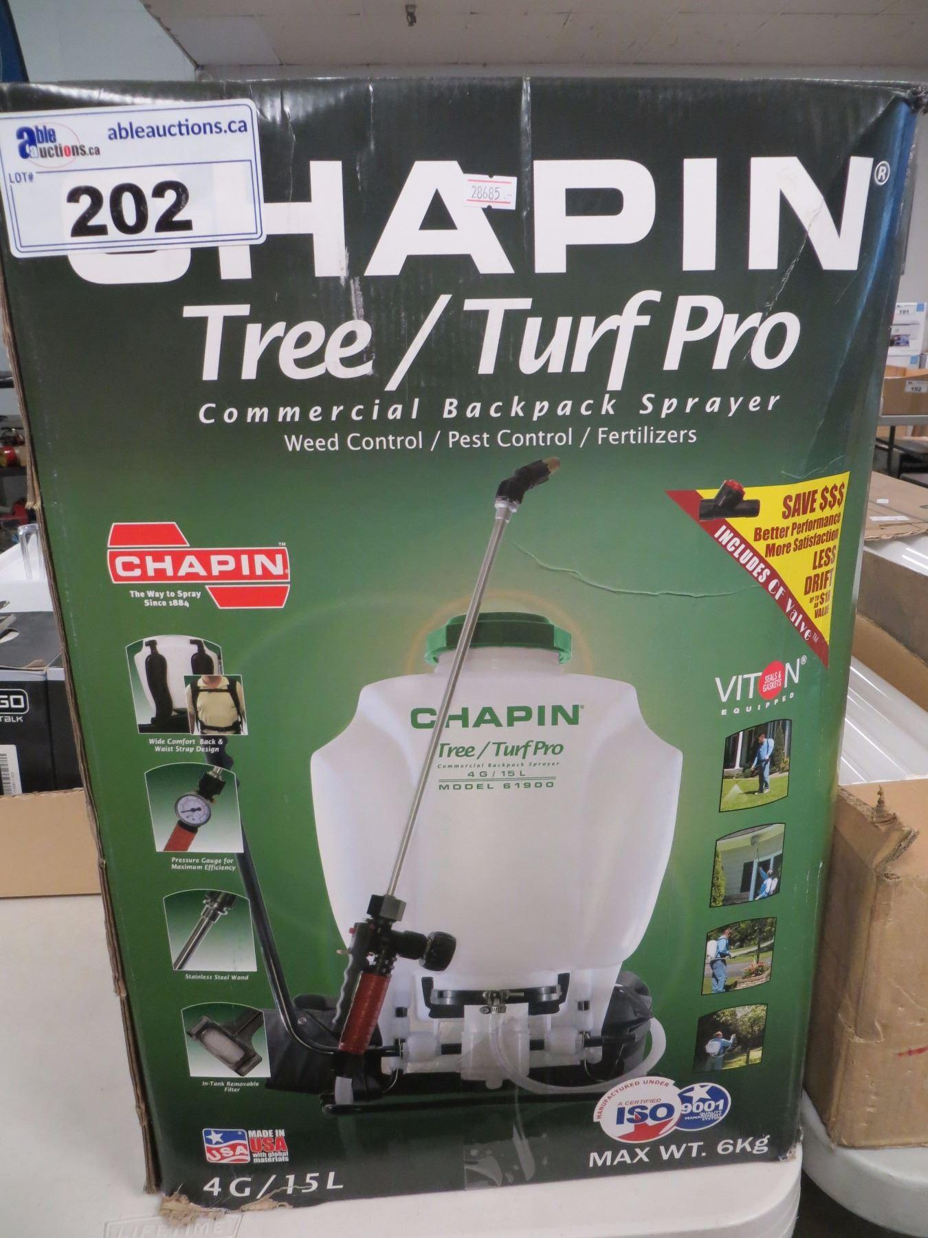 CHAPIN TREE/TURF PRO COMMERCIAL BACKPACK SPRAYER