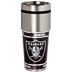 Oakland Raiders Stainless Steel Travel Tumbler